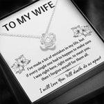"TO MY WIFE ""MISTAKES"" LOVE KNOT NECKLACE GIFT SET - ON CLOUD NINE GIFTS"