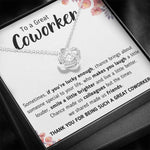 "TO A GREAT COWORKER ""A LITTLE BETTER"" LOVE KNOT NECKLACE GIFT SET - ON CLOUD NINE GIFTS"