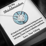 "TO MY SHIELDMAIDEN ""BREATHING - BLUE"" LOVE KNOT NECKLACE GIFT SET - ON CLOUD NINE GIFTS"