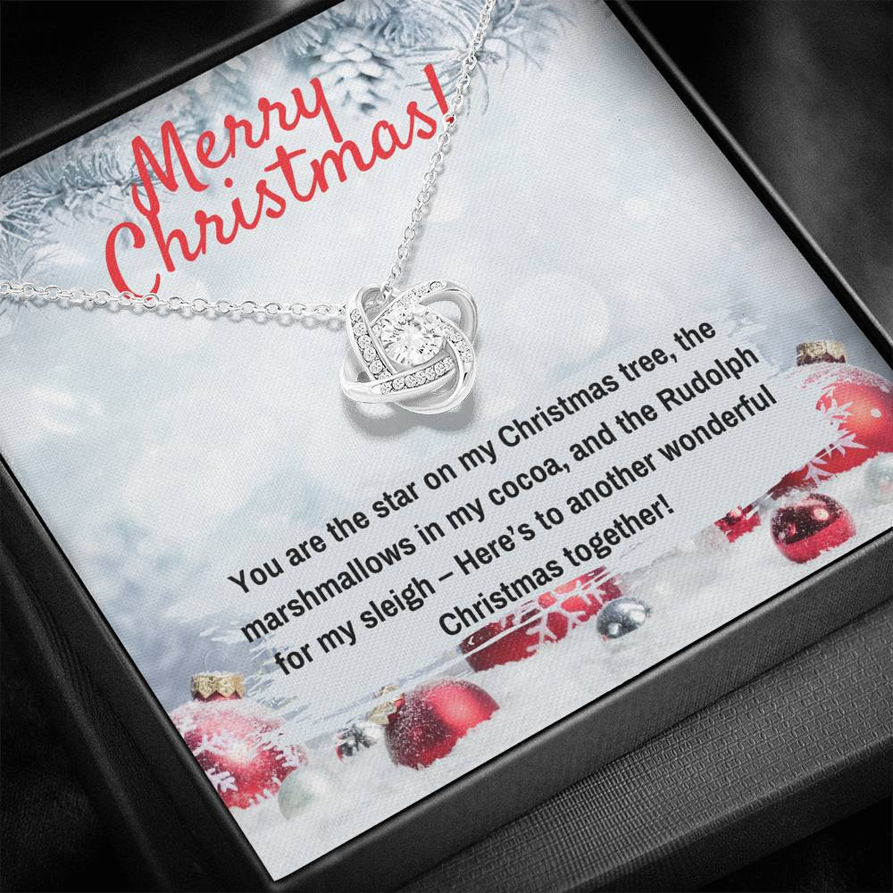 MERRY CHRISTMAS LOVE KNOT NECKLACE GIFT SET - ON CLOUD NINE GIFTS
