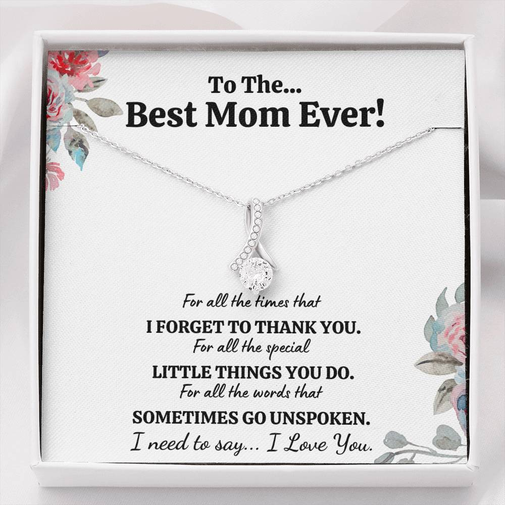 "TO THE BEST MOM EVER ""FOR ALL"" ALLURING BEAUTY NECKLACE GIFT SET - ON CLOUD NINE GIFTS"