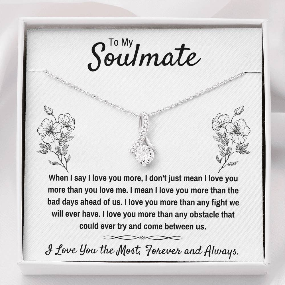 "TO MY SOULMATE ""I LOVE YOU THE MOST"" ALLURING BEAUTY NECKLACE GIFT SET - ON CLOUD NINE GIFTS"