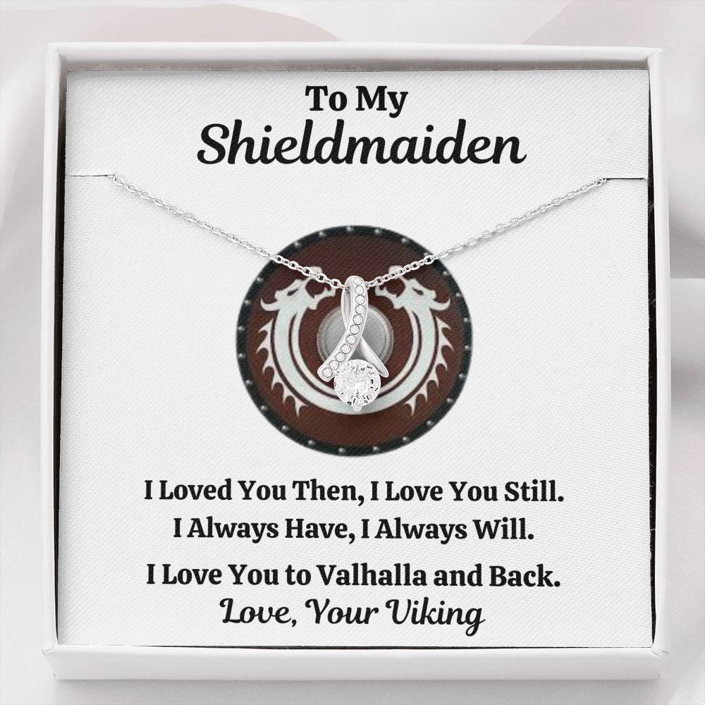 "TO MY SHIELDMAIDEN ""ALWAYS WILL - RED"" ALLURING BEAUTY NECKLACE GIFT SET - ON CLOUD NINE GIFTS"