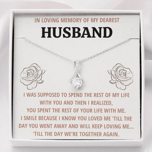 "TO MY HUSBAND ""LIFE"" REMEMBRANCE ALLURING BEAUTY NECKLACE GIFT SET - ON CLOUD NINE GIFTS"