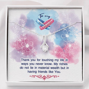 "TO MY BEST FRIEND ""MY RICHES"" ALLURING BEAUTY NECKLACE GIFT SET - ON CLOUD NINE GIFTS"