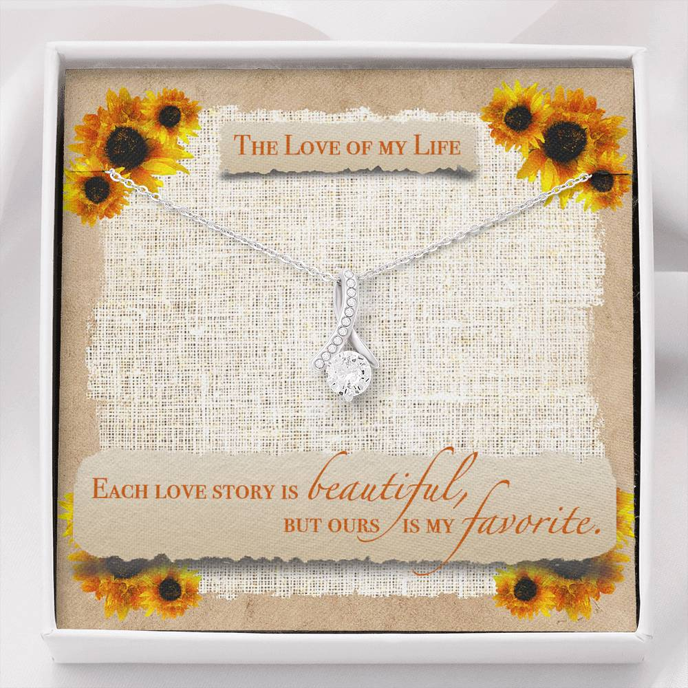 "TO THE LOVE OF MY LIFE ""SUNFLOWER"" ALLURING BEAUTY NECKLACE GIFT SET - ON CLOUD NINE GIFTS"