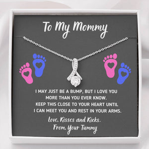 "TO MY MOMMY ""HEART-FEET"" ALLURING BEAUTY NECKLACE GIFT SET - ON CLOUD NINE GIFTS"