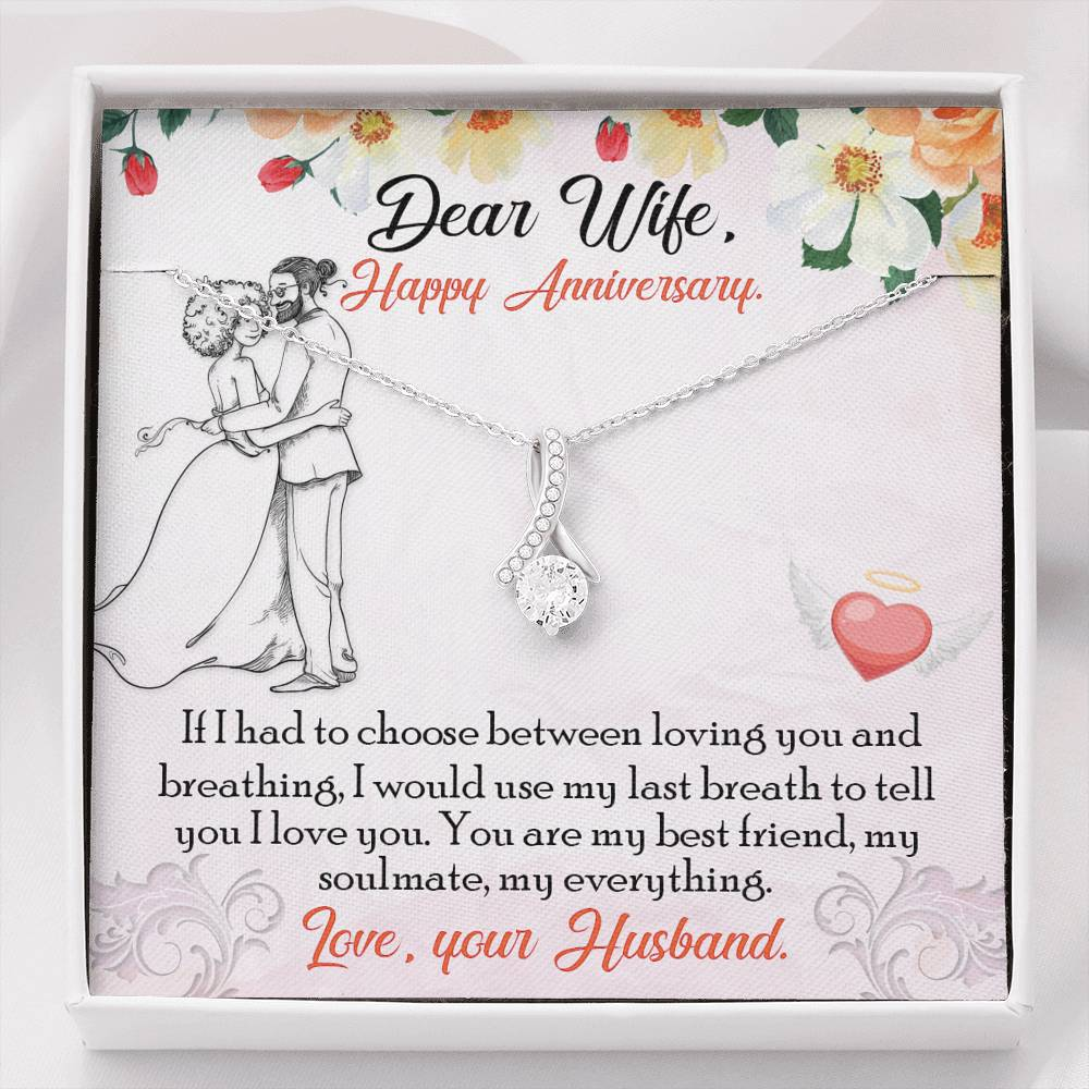 "DEAR WIFE ""BREATHING"" ALLURING BEAUTY NECKLACE ANNIVERSARY GIFT SET - ON CLOUD NINE GIFTS"