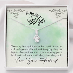 "TO MY WIFE ""ALL THAT I NEED"" ALLURING BEAUTY NECKLACE GIFT SET - ON CLOUD NINE GIFTS"