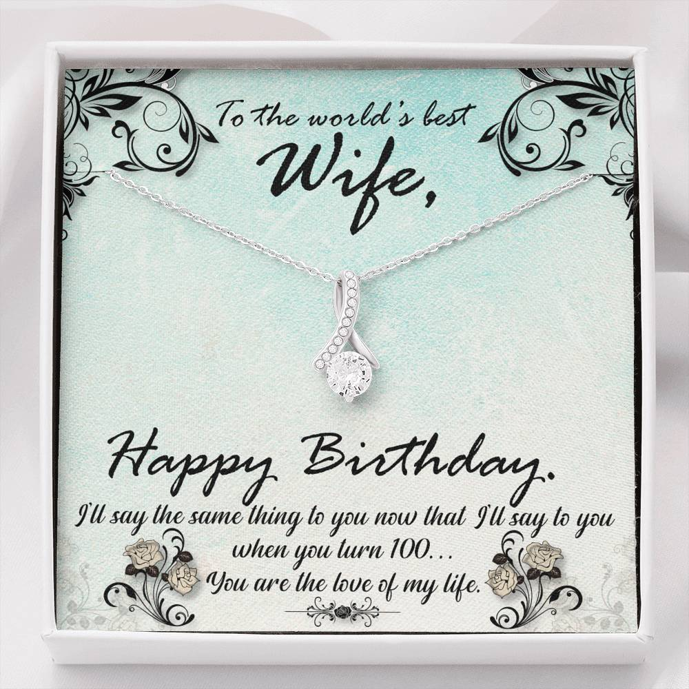 "TO MY WIFE ""HUNDRED"" ALLURING BEAUTY NECKLACE GIFT SET - ON CLOUD NINE GIFTS"