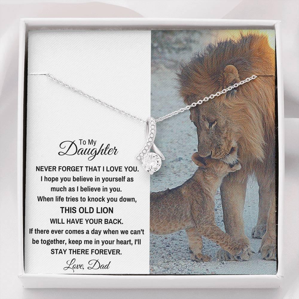 "TO MY DAUGHTER ""THIS OLD LION"" ALLURING BEAUTY NECKLACE GIFT SET - ON CLOUD NINE GIFTS"