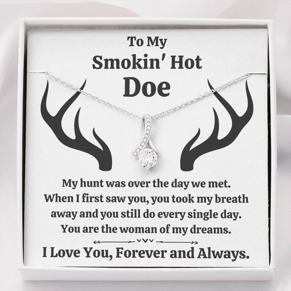 "TO MY SMOKIN HOT DOE ""DREAMS"" ALLURING BEAUTY NECKLACE GIFT SET - ON CLOUD NINE GIFTS"
