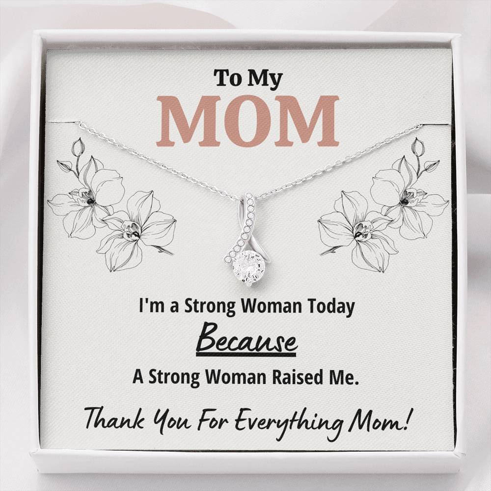 "TO MY MOM ""STRONG WOMAN"" ALLURING BEAUTY NECKLACE GIFT SET - ON CLOUD NINE GIFTS"