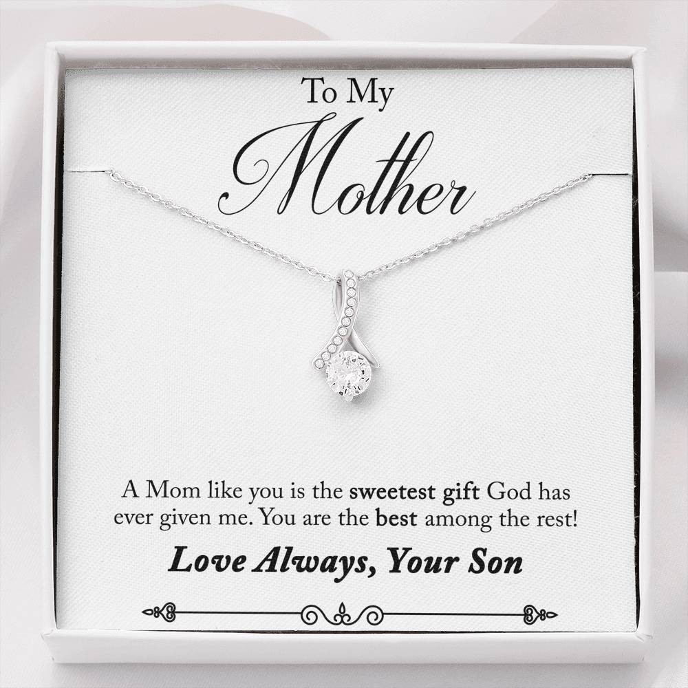 "TO MY MOTHER ""AMONG THE REST - SO"" ALLURING BEAUTY NECKLACE GIFT SET - ON CLOUD NINE GIFTS"