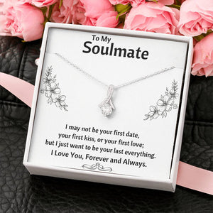 "TO MY SOULMATE ""LAST EVERYTHING - FLOWERS"" ALLURING BEAUTY NECKLACE GIFT SET - ON CLOUD NINE GIFTS"