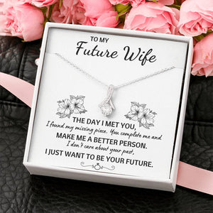 "TO MY FUTURE WIFE ""YOUR FUTURE"" ALLURING BEAUTY NECKLACE GIFT SET - ON CLOUD NINE GIFTS"