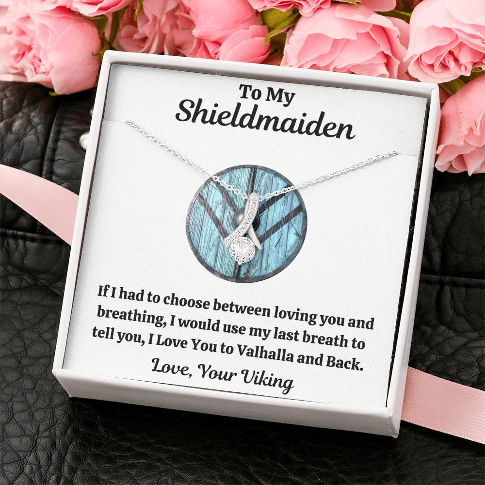"TO MY SHIELDMAIDEN ""BREATHING - BLUE"" ALLURING BEAUTY NECKLACE GIFT SET - ON CLOUD NINE GIFTS"
