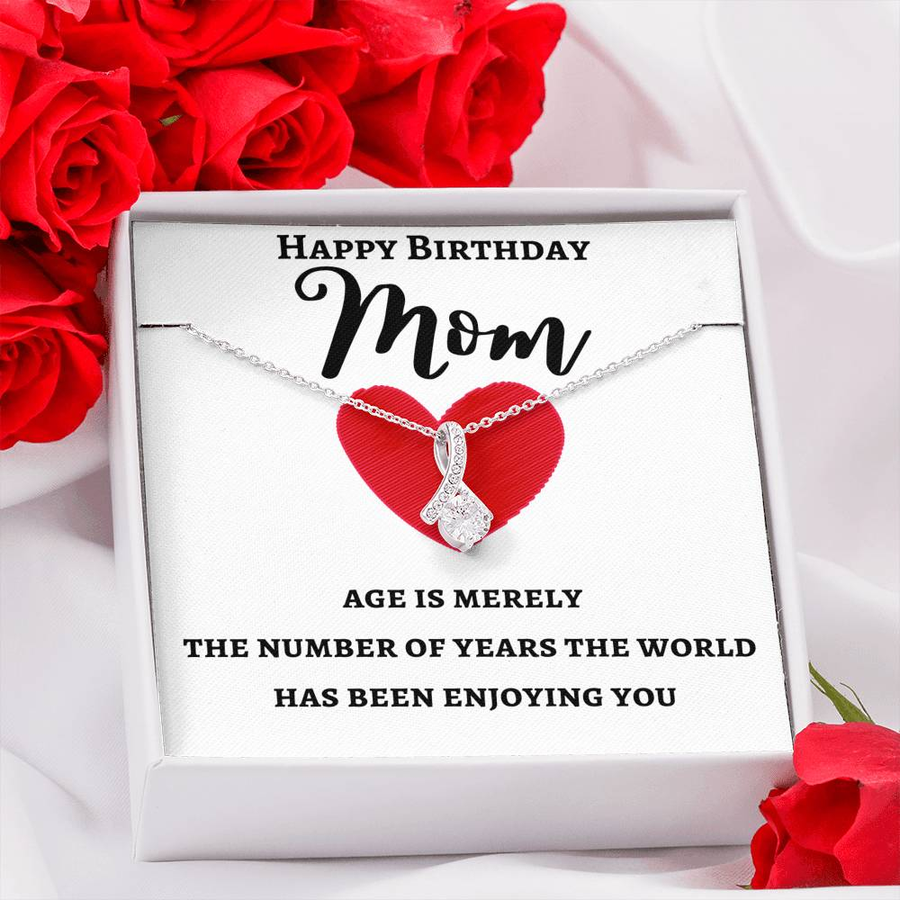 HAPPY BIRTHDAY MOM ALLURING BEAUTY NECKLACE | MESSAGE CARD | GIFT BOX - ON CLOUD NINE GIFTS
