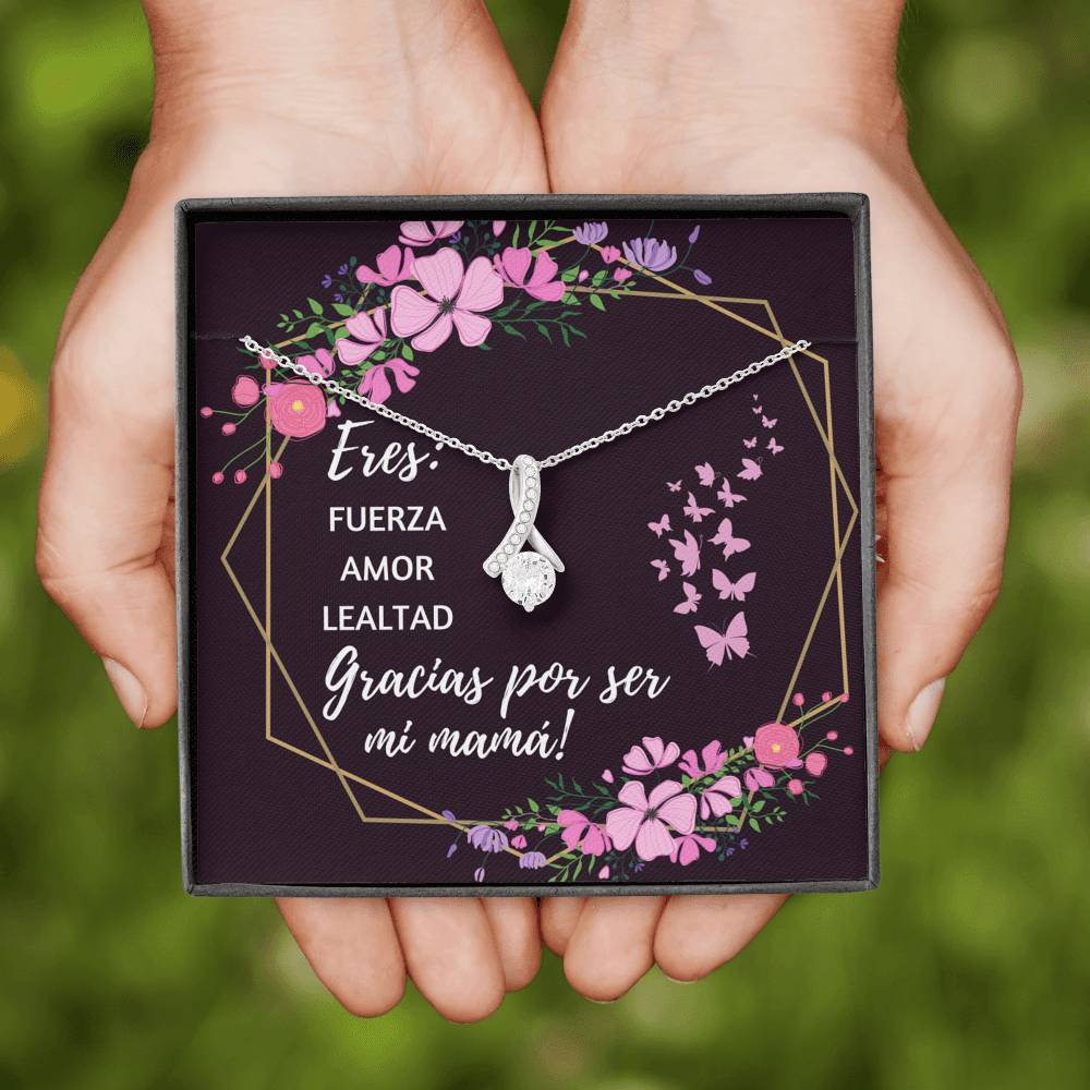 GRACIAS POR SER MI MAMA ALLURING BEAUTY NECKLACE GIFT SET - ON CLOUD NINE GIFTS