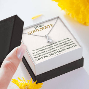 "TO MY SOULMATE ""FOREVER TOGETHER"" ALLURING BEAUTY NECKLACE GIFT SET - ON CLOUD NINE GIFTS"