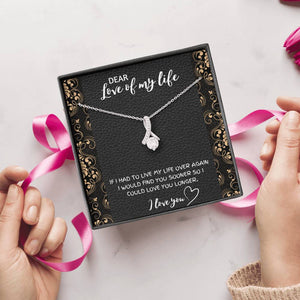 DEAR LOVE OF MY LIFE ALLURING BEAUTY NECKLACE GIFT SET - ON CLOUD NINE GIFTS