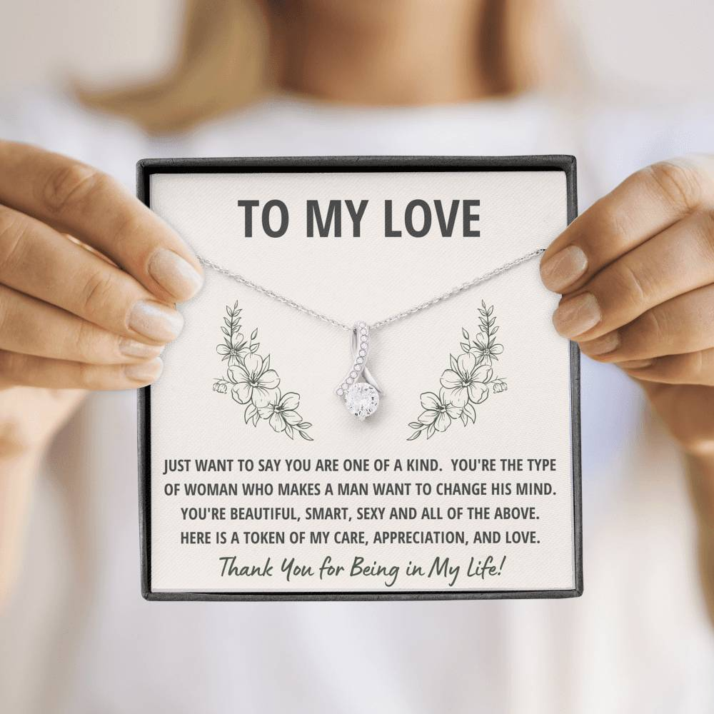"TO MY LOVE ""TOKEN"" ALLURING BEAUTY NECKLACE GIFT SET - ON CLOUD NINE GIFTS"