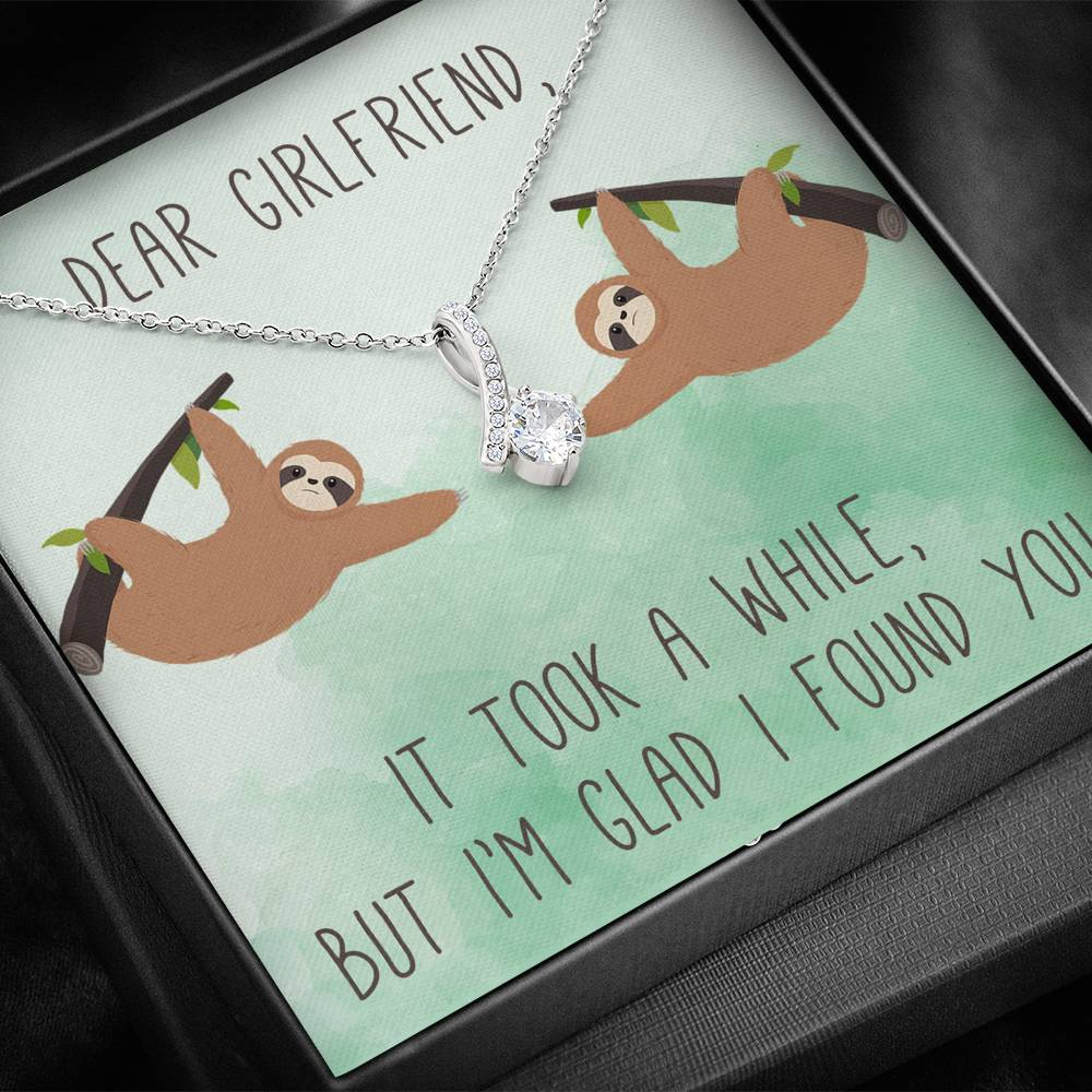 "DEAR GIRLFRIEND ""A WHILE"" ALLURING BEAUTY NECKLACE GIFT SET - ON CLOUD NINE GIFTS"