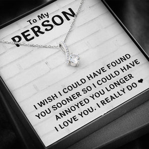 "TO MY PERSON ""FOUND YOU SOONER"" ALLURING BEAUTY NECKLACE GIFT SET - ON CLOUD NINE GIFTS"