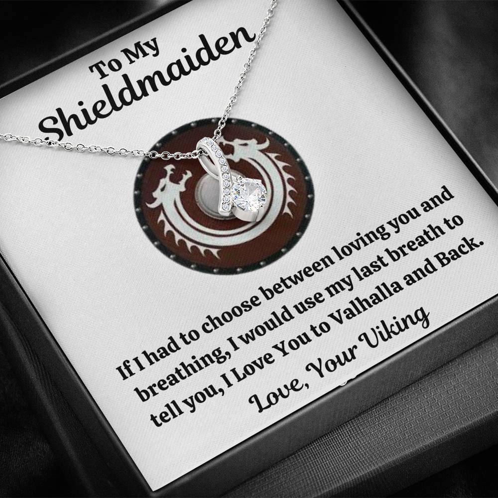 "TO MY SHIELDMAIDEN ""BREATHING - RED"" ALLURING BEAUTY NECKLACE GIFT SET - ON CLOUD NINE GIFTS"