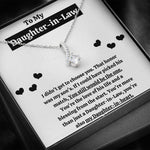 "TO MY DAUGHTER-IN-LAW ""BLESSING FROM THE START"" ALLURING BEAUTY NECKLACE GIFT SET - ON CLOUD NINE GIFTS"