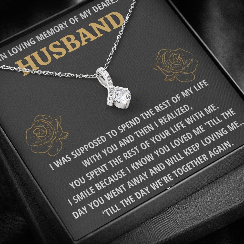 "TO MY HUSBAND ""LIFE - GOLDEN"" REMEMBRANCE ALLURING BEAUTY NECKLACE GIFT SET - ON CLOUD NINE GIFTS"