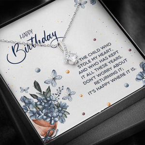 "TO MY DAUGHTER ""STOLE MY HEART"" ALLURING BEAUTY NECKLACE BIRTHDAY GIFT SET - ON CLOUD NINE GIFTS"