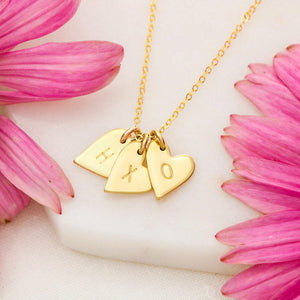 "TO MY BEAUTIFUL WIFE ""EVERY SECOND"" CUSTOM NAME INITIALS ENGRAVING HEARTS NECKLACE GIFT SET - ON CLOUD NINE GIFTS"