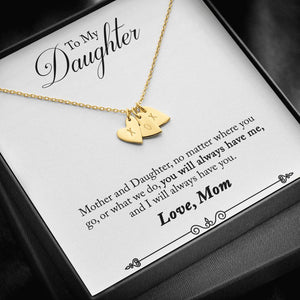 "TO MY DAUGHTER ""HAVE YOU - SO"" CUSTOM NAME INITIALS ENGRAVING HEARTS NECKLACE GIFT SET - ON CLOUD NINE GIFTS"