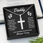 "TO DADDY ""ALREADY MY HERO"" CROSS NECKLACE GIFT SET - ON CLOUD NINE GIFTS"