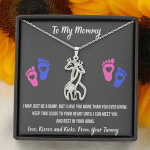 "TO MY MOMMY ""HEART-FEET"" GIRAFFE NECKLACE GIFT SET - ON CLOUD NINE GIFTS"