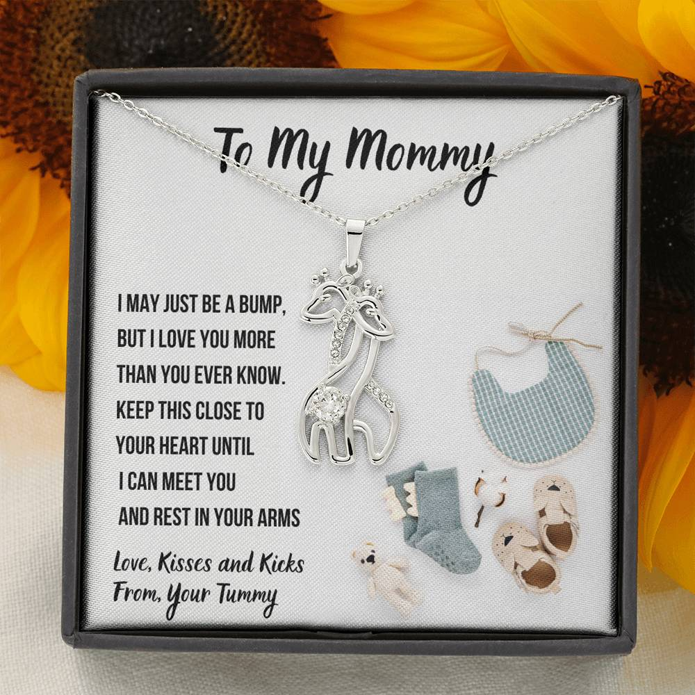 "TO MY MOMMY ""BABY FASHION"" GIRAFFE NECKLACE GIFT SET - ON CLOUD NINE GIFTS"