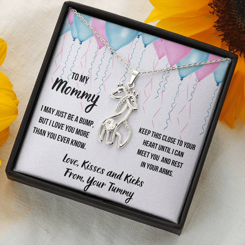 "TO MY MOMMY ""CELEBRATION"" GIRAFFE NECKLACE GIFT SET - ON CLOUD NINE GIFTS"