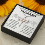 "TO MY HUSBAND ""LIFE"" DRAGONFLY REMEMBRANCE NECKLACE GIFT SET - ON CLOUD NINE GIFTS"