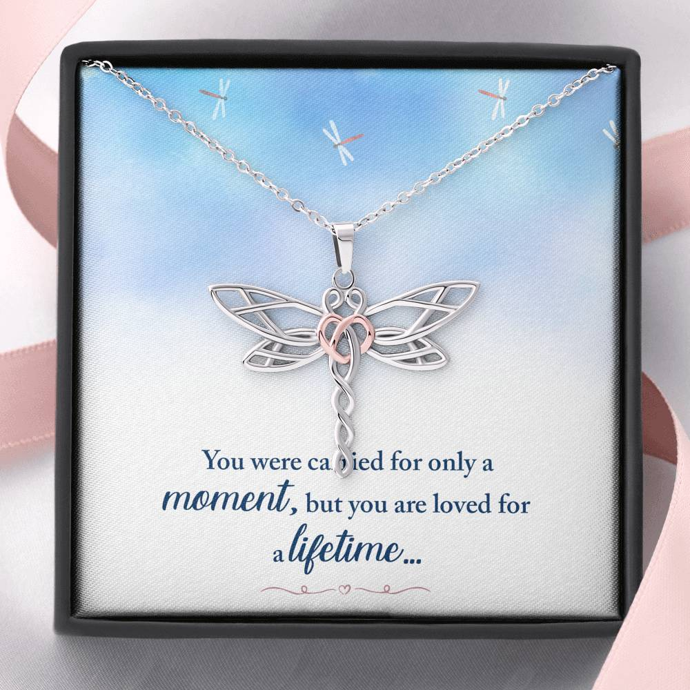 "REMEMBRANCE ""LOVED FOR A LIFETIME"" DRAGONFLY NECKLACE GIFT SET - ON CLOUD NINE GIFTS"