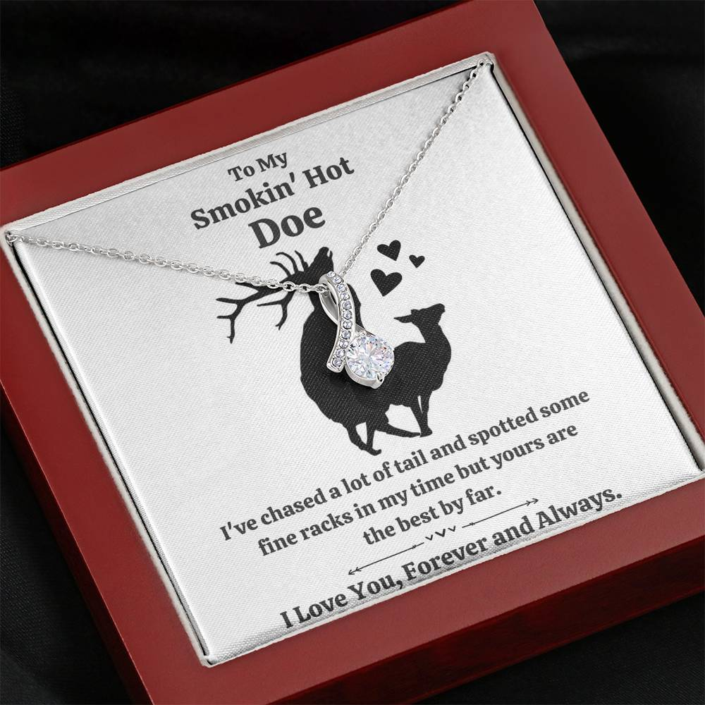"TO MY SMOKIN HOT DOE ""TAIL"" ALLURING BEAUTY NECKLACE GIFT SET - ON CLOUD NINE GIFTS"