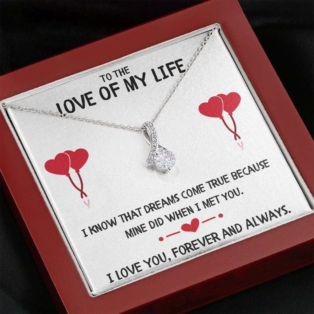 "TO THE LOVE OF MY LIFE ""DREAMS"" ALLURING BEAUTY NECKLACE GIFT SET - ON CLOUD NINE GIFTS"