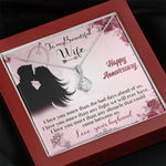 "TO MY BEAUTIFUL WIFE ""ANY FIGHT"" ALLURING BEAUTY NECKLACE ANNIVERSARY GIFT SET - ON CLOUD NINE GIFTS"