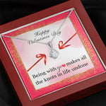 "TO MY LOVE ""KNOTS"" ALLURING BEAUTY NECKLACE VALENTINES DAY GIFT SET - ON CLOUD NINE GIFTS"