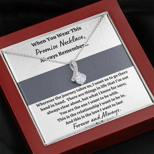 "TO MY LOVE ""PROMISE NECKLACE - GREY"" ALLURING BEAUTY NECKLACE GIFT SET - ON CLOUD NINE GIFTS"
