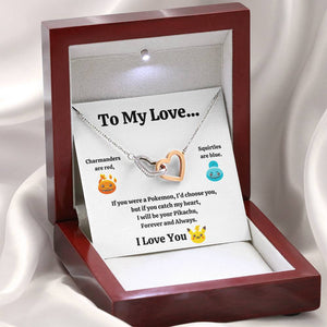 "TO MY LOVE ""CATCH MY HEART"" INTERLOCKING HEARTS NECKLACE GIFT SET - ON CLOUD NINE GIFTS"
