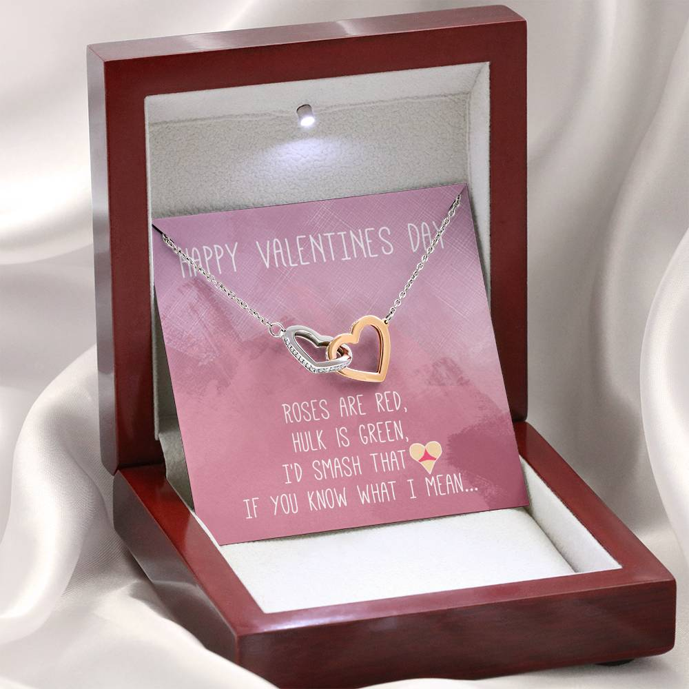 "TO MY LOVE ""BUTT"" INTERLOCKING HEARTS NECKLACE VALENTINES DAY GIFT SET - ON CLOUD NINE GIFTS"