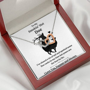 "TO MY SMOKIN' HOT DOE ""TAIL"" INTERLOCKING NECKLACE GIFT SET - ON CLOUD NINE GIFTS"