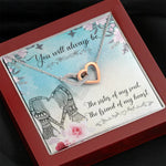 "TO MY BEST FRIEND ""SISTER OF MY SOUL"" INTERLOCKING HEARTS NECKLACE GIFT SET - ON CLOUD NINE GIFTS"