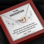"TO MY DAUGHTER FROM DAD ""LITTLE GIRL"" INTERLOCKING HEARTS NECKLACE GIFT SET - ON CLOUD NINE GIFTS"